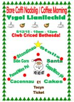 poster christmas coffee morning